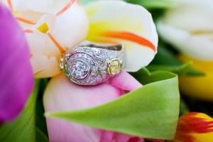 Custom White Diamond Ring