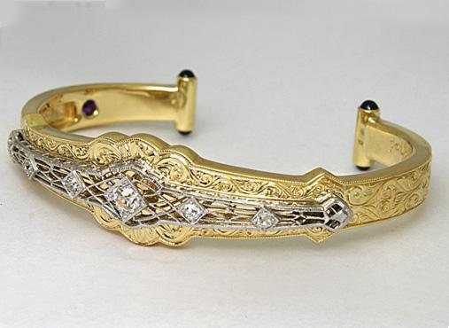 Custom Gold and Diamonds Bracelets