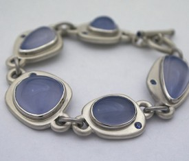 Hand Fabricated Madison River Blue Bracelet