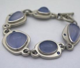 Hand Fabricated Madison River Blue Bracelet