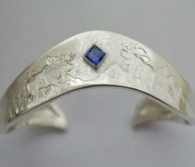 Sterling Silver Moose Bracelet