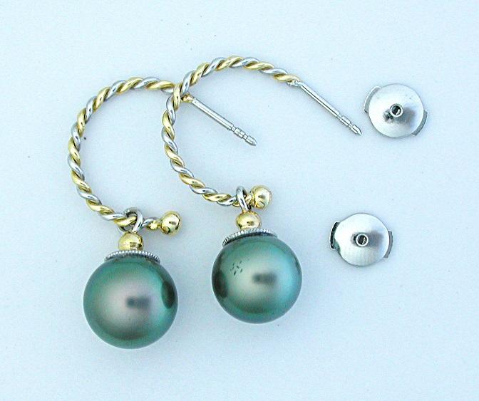 Yogo & Diamond Earrings