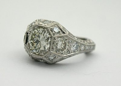 Side view of the diamond ring
