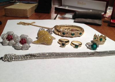 Original pieces of jewelry to be used to create something new.