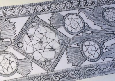 Close up of design.