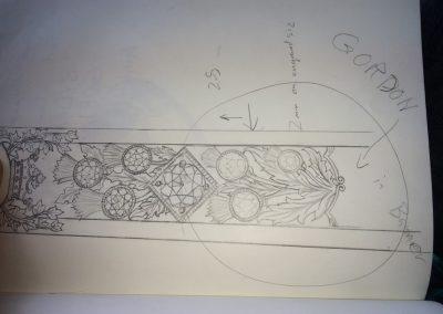 Artwork being designed.