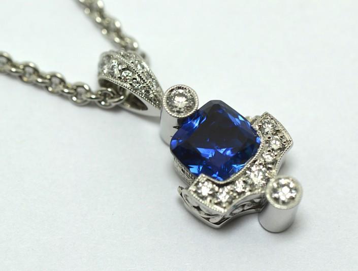 Extraordinary Yogo Sapphire Pendant