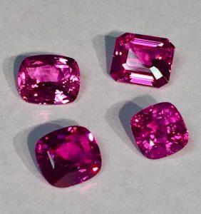 Loose Pink Sapphire Gems