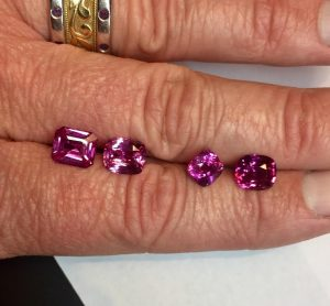 Pink Sapphires on Hand
