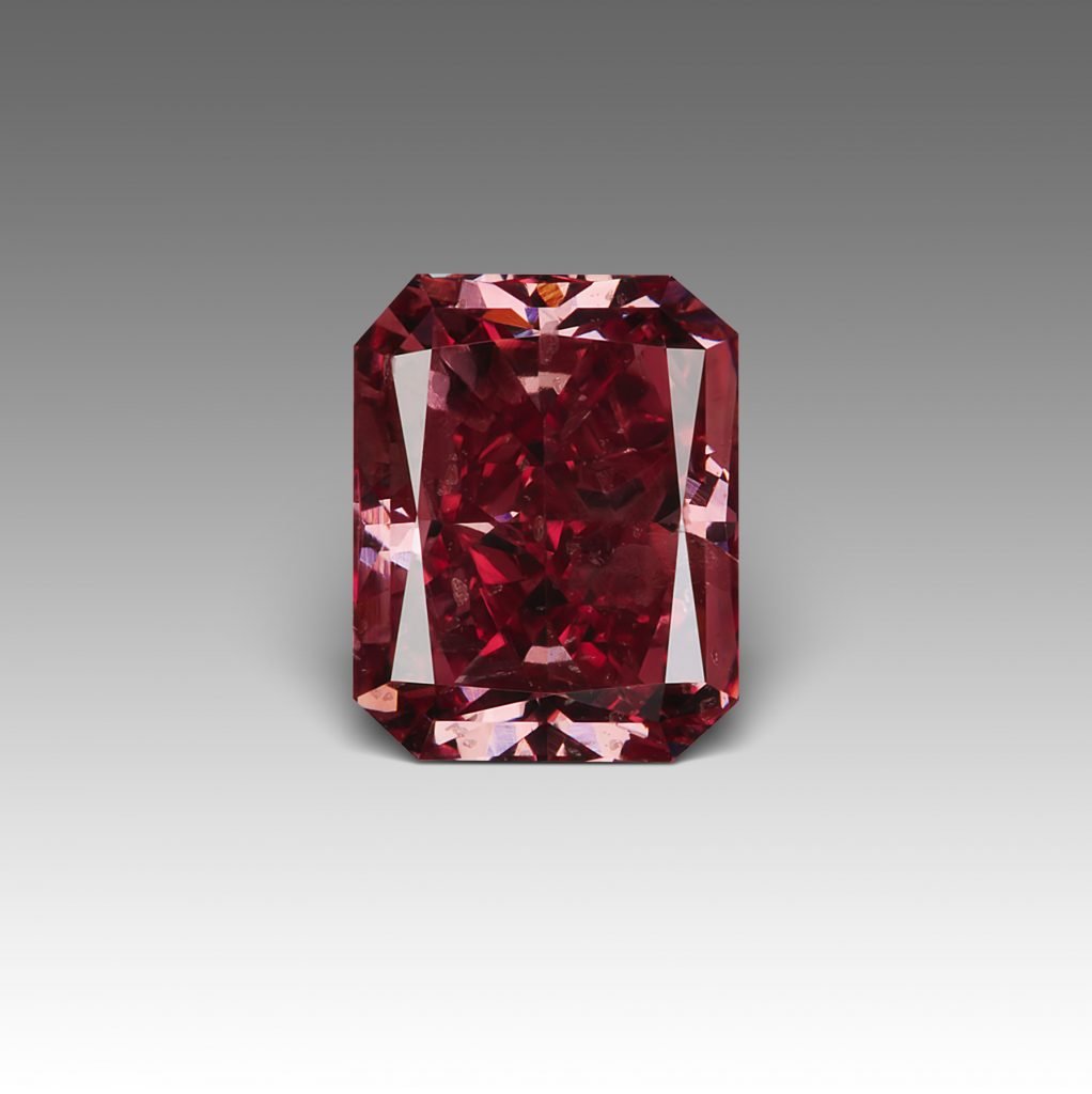 red diamond loose stone