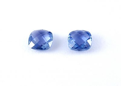 .45ct Rose Cut Square Cushion Pair 3.5x3.5